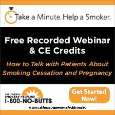 Free Continuing Education Course--Smoking and Pregnancy
