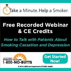 Free Continuing Education Course--Smoking and Depression